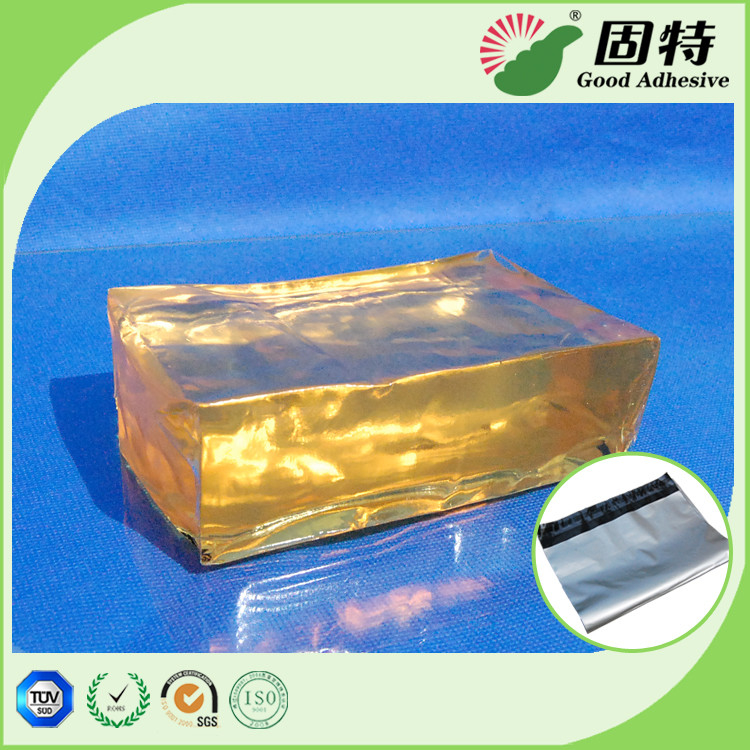 Yellow and semi-transparent Hot Melt Pressure Sensitive Glue Adhesive For Mail Bag Sealing Good Like Henkel