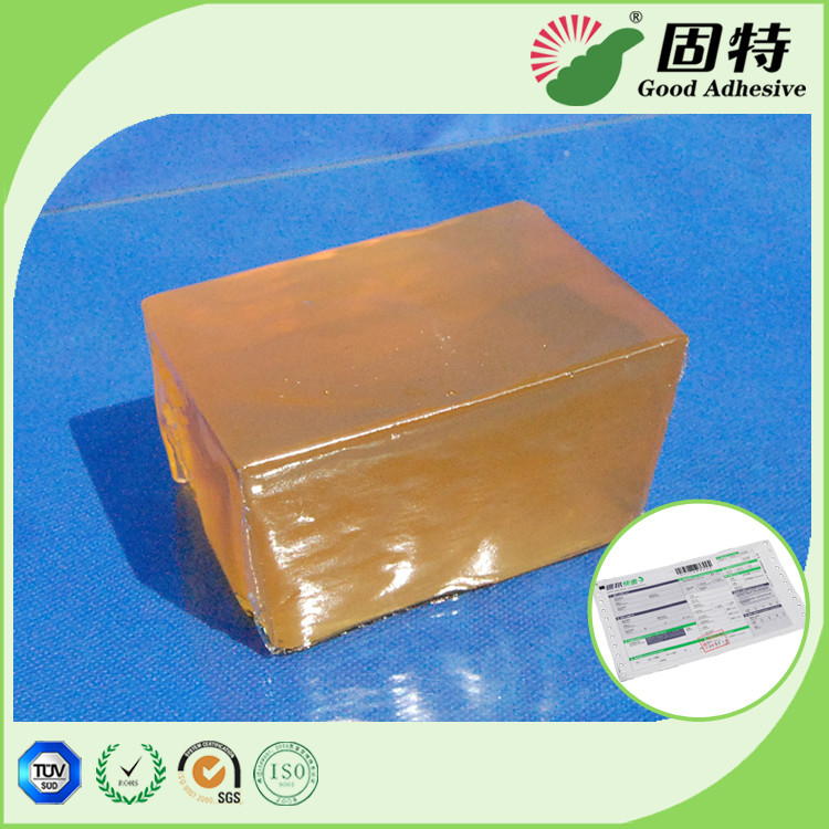 Express Bill Sealing Hot Melt Glue Adhesive Packaging Yellow color and semi-transparent