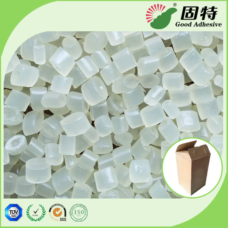 EVA resin Yellowish Granule solid  Hot Melt Adhesive Packaging , EVA Hot Melt Pellets for bonding of common corrugated c