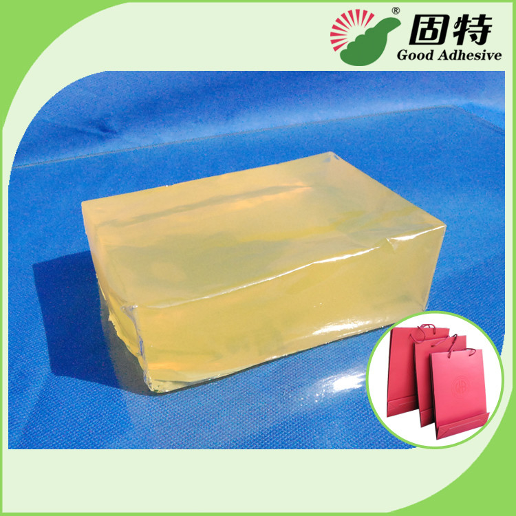 Yellow Block Hot Melt Pressure Sensitive Glue For Handbag Bottom Sealing